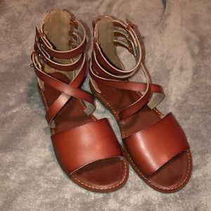 Brown American Eagle Sandals size 6